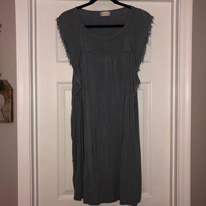 Ruffled Sleeveless Grey Dress | Altard State